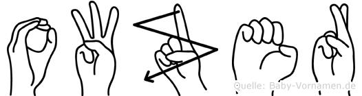 Owzer in Fingersprache für Gehörlose