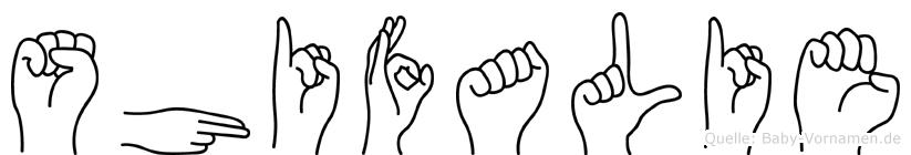 Shifalie in Fingersprache für Gehörlose