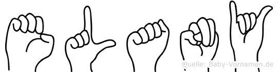 Elany im Fingeralphabet der Deutschen Gebärdensprache