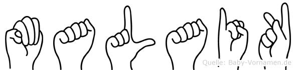 Malaik in Fingersprache für Gehörlose