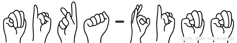 Mika-Finn im Fingeralphabet der Deutschen Gebärdensprache