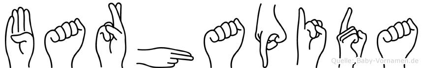 Barhapida im Fingeralphabet der Deutschen Gebärdensprache