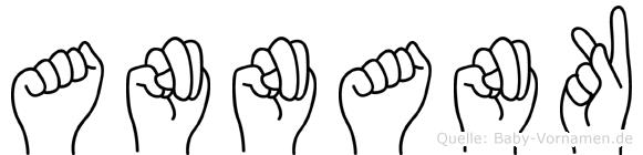 Annank im Fingeralphabet der Deutschen Gebärdensprache