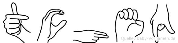 Tcheq in Fingersprache für Gehörlose