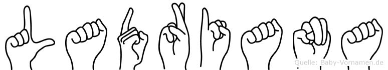 Ladriana in Fingersprache für Gehörlose