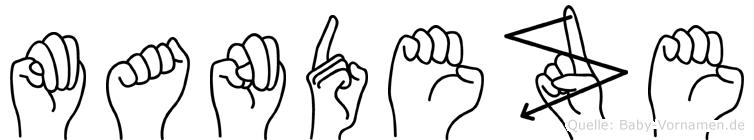 Mandeze im Fingeralphabet der Deutschen Gebärdensprache