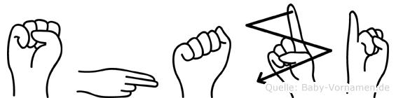 Shazi im Fingeralphabet der Deutschen Gebärdensprache