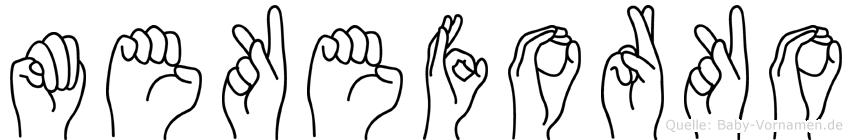 Mekeforko in Fingersprache für Gehörlose