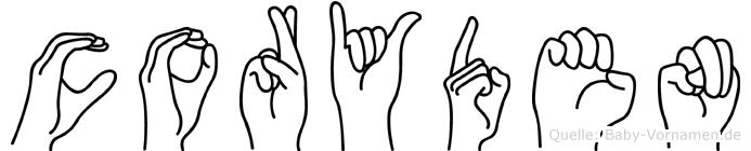 Coryden im Fingeralphabet der Deutschen Gebärdensprache
