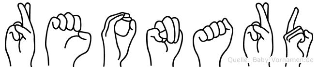 Reonard im Fingeralphabet der Deutschen Gebärdensprache