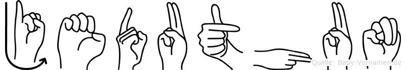 Jeduthun in Fingersprache für Gehörlose