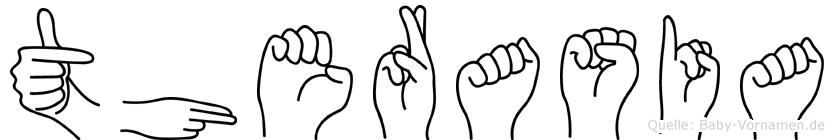 Therasia im Fingeralphabet der Deutschen Gebärdensprache