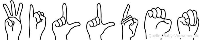 Willden in Fingersprache für Gehörlose