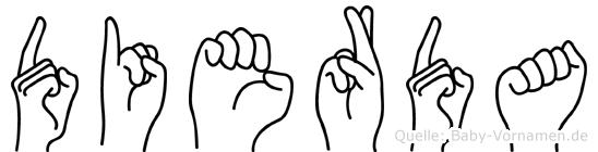 Dierda im Fingeralphabet der Deutschen Gebärdensprache