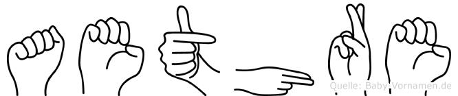 Aethre im Fingeralphabet der Deutschen Gebärdensprache