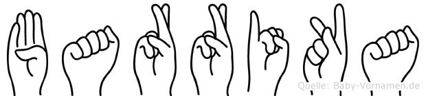 Barrika im Fingeralphabet der Deutschen Gebärdensprache