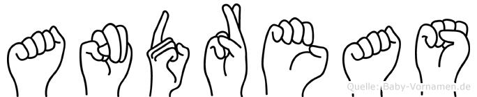 Andreas in Fingersprache für Gehörlose