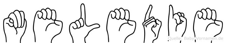 Meledie in Fingersprache für Gehörlose