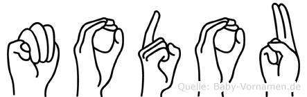 Modou in Fingersprache für Gehörlose