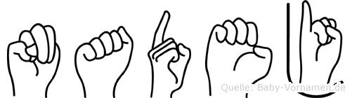 Nadej in Fingersprache für Gehörlose