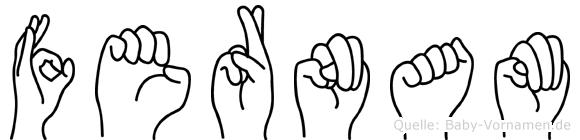 Fernam im Fingeralphabet der Deutschen Gebärdensprache