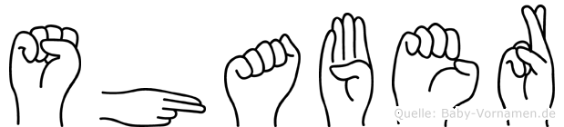 Shaber im Fingeralphabet der Deutschen Gebärdensprache