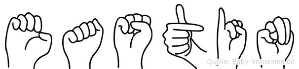 Eastin in Fingersprache für Gehörlose