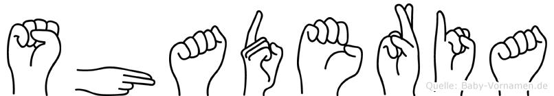 Shaderia in Fingersprache für Gehörlose