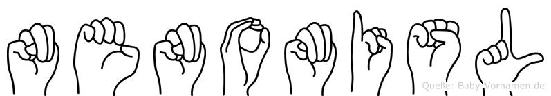 Nenomisl im Fingeralphabet der Deutschen Gebärdensprache