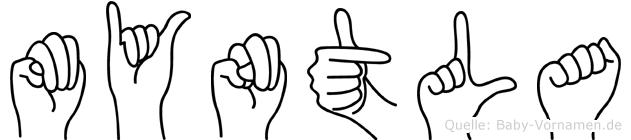 Myntla in Fingersprache für Gehörlose