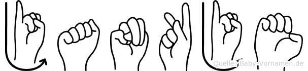 Jankje im Fingeralphabet der Deutschen Gebärdensprache