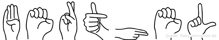 Berthel in Fingersprache für Gehörlose