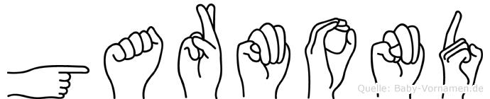 Garmond im Fingeralphabet der Deutschen Gebärdensprache