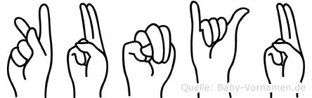 Kunyu in Fingersprache für Gehörlose