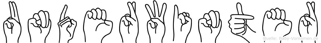 Underwinter in Fingersprache für Gehörlose