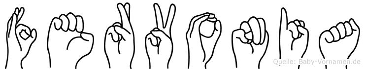 Fervonia im Fingeralphabet der Deutschen Gebärdensprache