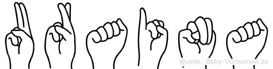 Uraina in Fingersprache für Gehörlose