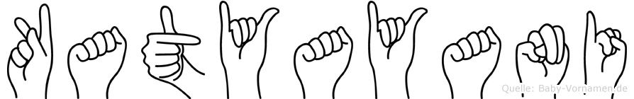 Katyayani in Fingersprache für Gehörlose