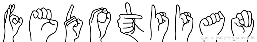 Fedotiian in Fingersprache für Gehörlose