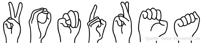 Vondrea im Fingeralphabet der Deutschen Gebärdensprache