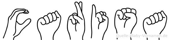 Carisa im Fingeralphabet der Deutschen Gebärdensprache