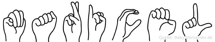 Maricel im Fingeralphabet der Deutschen Gebärdensprache