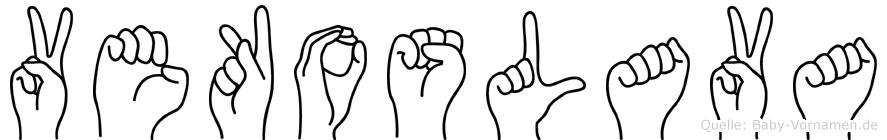 Vekoslava im Fingeralphabet der Deutschen Gebärdensprache