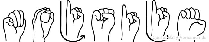 Mojsije in Fingersprache für Gehörlose