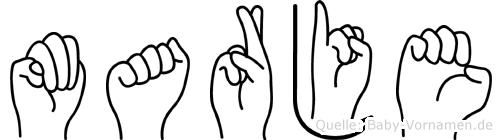 Marje in Fingersprache für Gehörlose