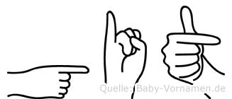 Git in Fingersprache für Gehörlose
