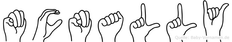 Mcnally im Fingeralphabet der Deutschen Gebärdensprache