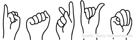 Iakym in Fingersprache für Gehörlose