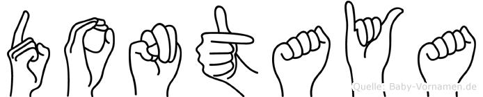 Dontaya im Fingeralphabet der Deutschen Gebärdensprache