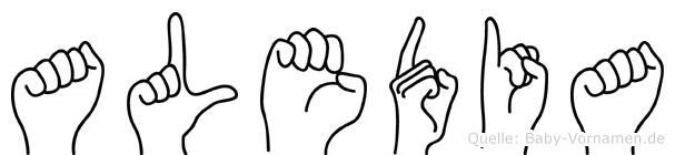 Aledia in Fingersprache für Gehörlose